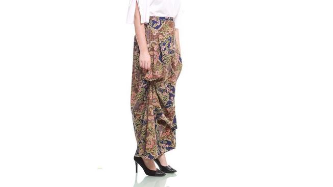 Nayara Batik Rok Dewasa Batik Panjang stylish Luna Aria Navy